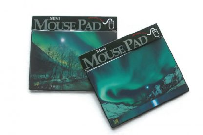 Musematte med nordlysmotiv / Mouse pad mini with northern lights