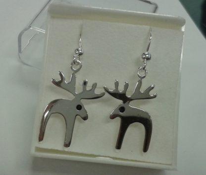 Sølvøredobber med reinsdyr /silver earrings with reindeer