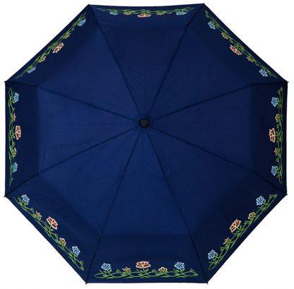 Bunadsparaply til blå nordlandsbunad