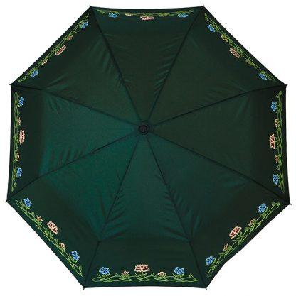 Bunadsparaply til grønn nordlandsbunad