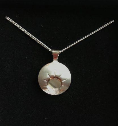 Midnattsol smykke sølv-0