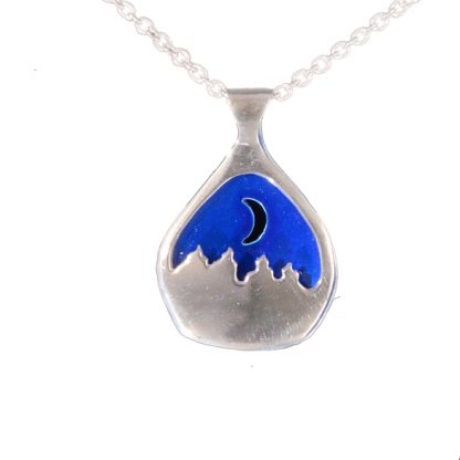 Polarnatt smykke blå sølv-0