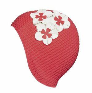 Rosa badehette med tre blomster